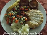 Minced Beef Pie with Yorkshire Pudding