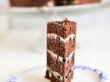 Layer Cake Love: Four layer chocolate cake with oreo cream filling