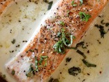 Baked Salmon in Parmesan Cream