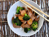 Broccoli Beef with Water Chestnuts and Jasmine Rice