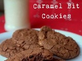 Dark Chocolate Caramel Bit Cookies - The Great Food Blogger Cookie Swap
