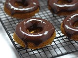 Gluten-Free Pumpkin Donuts with Chocolate Glaze