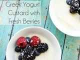 Greek Yogurt Custard with Fresh Berries