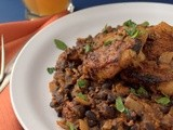 Spicy Chicken Thighs with Chorizo Black Beans