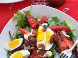 Spring Salad with Strawberries, Bacon & Blue Cheese - Secret Recipe Club