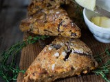 Smokey Cheddar Scones with Rye, Caraway & Caramelized Onions