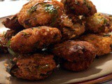 Instant Swiss Chard Onion Avil Vadai/ Beaten Flat Rice Fritters