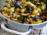 Roasted Potato and Eggplant With Swiss Chard