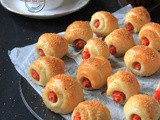 Carrot mini Crescent Rolls (vegan)