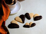 Chocolate Dipped Heart Shape Cinnamon Cookies