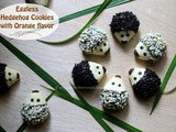Eggless Hedgehog Cookies with Orange flavor