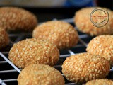 Eggless Oats Sesame Cookies