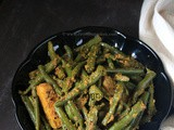 French Beans Fry in Mustard Paste