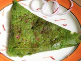 Stuffed Spinach Rava Dosa without All Purpose Flour (maida)