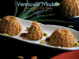 Vermicelli Modak with stuffed Dry Fruits
