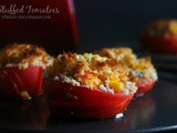 Baked Stuffed Tomatoes recipe | Vegetarian Recipes | Appetizer Snack Recipe | Flavour Diary