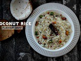 Coconut Fried Rice Recipe | Flavour Diary | Indian Cuisine | Lunchbox Recipe