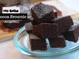 Whole Wheat Cocoa Brownie | No Oven recipe | FlavourDiary