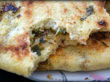 Batbout beche'hma - Moroccan stuffed flatbread with suet and spices