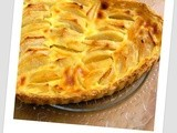 Custardy Apple tart: Tarte aux pommes Alsacienne ou Normande
