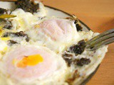 Moroccan fried eggs with Khli' - Lbid bel khlii : a breakfast from Fez