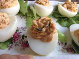 Moroccan-style Deviled eggs