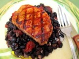 Grilled Chipotle Pork Loin with Chipotle Black Beans