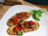 Oven Roasted Tomato Crostini...and with Rigatoni
