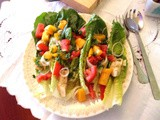 Romaine and Potato Salad with Artichoke, Tomato, and Parsley Dressing