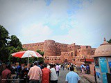 Exploring the Massive Red Fort Agra