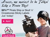 Mabel's Labels :50% off on Pirate Ship and Skull 'n' Crossbones Sticky Labels and Plane Sticky Labels