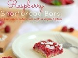 Raw Raspberry Shortbread Bars(Grain and Gluten Free with a Vegan Option)