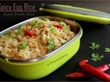 Spicy Egg Rice Using Brown Rice / Diet Friendly Recipe - 30 / #100dietrecipes