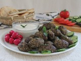 Baked Kibbeh with Yogurt Sauce #SundaySupper
