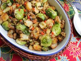 Brussels Sprouts and Potatoes with Sausage Crumbles