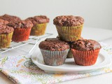 Chocolate Banana Mini Muffins #MuffinMonday