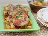 Indian-spiced Pork Chop Potato Skillet