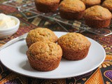 Maple Banana Cornbread Muffins #MuffinMonday