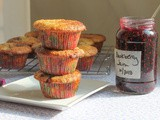 Quick Blackberry Jam Muffins #MuffinMonday