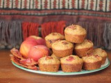 Roasted Peach and Bacon Muffins #MuffinMonday