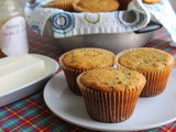 Sausage Honey Cornbread Muffins #MuffinMonday