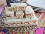 Shrimp Salad Finger Sandwiches