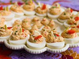 Smoked Salmon Stuffed Deviled Eggs #FishFridayFoodies