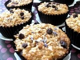 Muffin Monday - Lavender Granola Muffins with Apricots, Cranberries and Chocolate