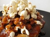 Popcorn Bread Pudding with Salted Butter Caramel Sauce