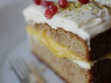 Almond cake with orange curd – grain, gluten and sugar free  /// Amandel taart met sinaasappel curd – graan gluten en suiker vrij