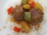One Pot Sweet & Sour Meatballs with Rice - Pot In Pot Pressure Cooking