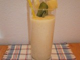 Lassi with pineapple, honey and ginger