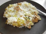 Leek - mushrooms risotto