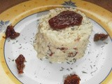 Risotto with fresh goat's cheese and dried tomatoes